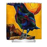 Summer Crow 2 Shower Curtain