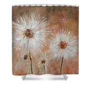 Summer Dandelions Shower Curtain