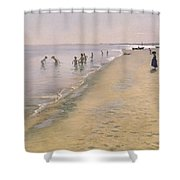 Summer Day At The South Beach Of Skagen Shower Curtain