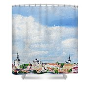 Summer Day In Tallinn Shower Curtain