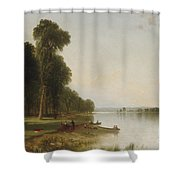 Summer Day On Conesus Lake, 1870 Shower Curtain