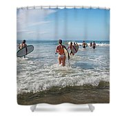 Summer Days Byron Waves Shower Curtain