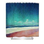 Summer Days IIi - Abstract Beach Scene Shower Curtain