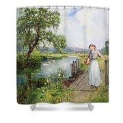 Summer Shower Curtain by Ernest Walbourn