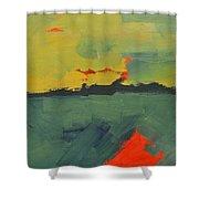 Summer Eve Bayside Shower Curtain