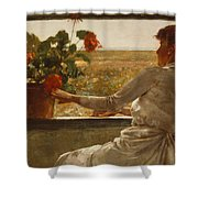 Summer Evening Shower Curtain by Childe Hassam