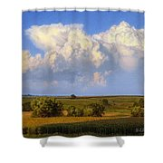 Summer Evening Formations Shower Curtain
