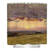 Summer Evening With Storm Clouds Shower Curtain