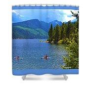 Summer Family Kayak Fun Shower Curtain