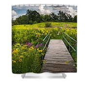 Summer Field Of Wildflowers Shower Curtain