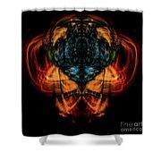 10644 - Summer Fire Mask 44 - The Battle Imp Shower Curtain