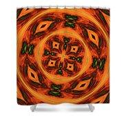 10697 Summer Fire Mask 54 Kaleidoscope 2 Shower Curtain