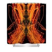 10658 Summer Fire Mask 58 - Dance Of The Fire Queen Shower Curtain