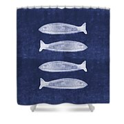 Summer Fish- Art By Linda Woods Shower Curtain