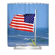 Summer Flag Shower Curtain