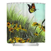 Summer Flight Shower Curtain