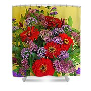 Summer Flower Bouquet Shower Curtain