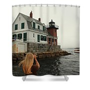 Summer Fog Shower Curtain