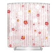 Summer Garden Floral Pattern Shower Curtain