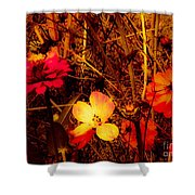 Summer Glow On Flowers Shower Curtain