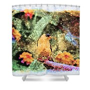 Summer Goldfinch - Digital Paint 5 Shower Curtain