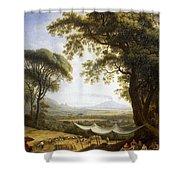 Summer Harvest On Caserta Plain Shower Curtain