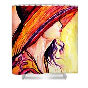 Summer Hat Shower Curtain