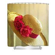 Summer Hat Shower Curtain
