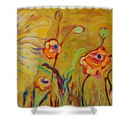 Summer Hibiscus Flower Shower Curtain