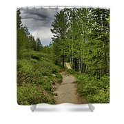 Summer Hike And Storm Clouds Shower Curtain