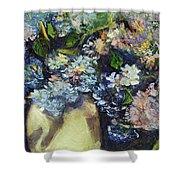 Summer Hydrangea Shower Curtain