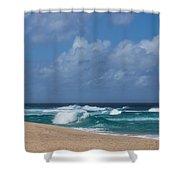 Summer In Hawaii - Banzai Pipeline Beach Shower Curtain