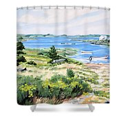 Summer In Lunenburg Harbour Shower Curtain
