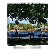 Summer In Marblehead, Ma Shower Curtain