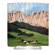 Summer In Switzerland Shower Curtain