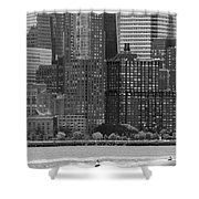 Summer In The City Shower Curtain
