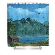 Summer In The Mountains Shower Curtain