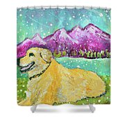 Summer In The Mountains With Summer Snow Shower Curtain