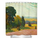 Summer Landscape By John William Beatty Shower Curtain