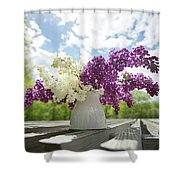 Summer Lilacs Shower Curtain