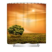 Summer Shower Curtain by Lourry Legarde