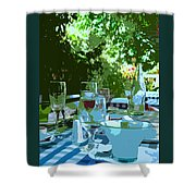 Summer Lunch Remembered Shower Curtain