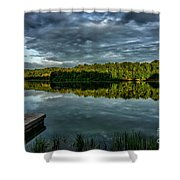 Summer Morning At The Dock Shower Curtain