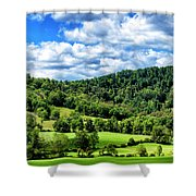 Summer Morning Meadow And Ridge Shower Curtain