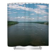 Summer Morning View Over The Hudson Shower Curtain