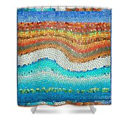 Summer Mosaic Shower Curtain