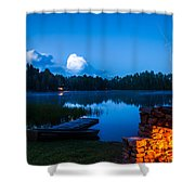 Summer Nights On The Pond Shower Curtain