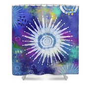 Summer Of Love 2- Art By Linda Woods Shower Curtain