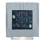 Summer Of Love At Philz Coffee Shower Curtain