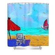 Summer On Nantasket Shower Curtain